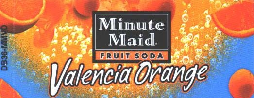 Small Minute Maid Valencia Orange Line Art Flavor Drink Labels | Small Vending Machine Flavor Strips