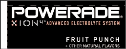Small Powerade Ion Fruit Punch Line Art Flavor Drink Labels | Small Vending Machine Flavor Strips