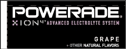 Small Powerade Ion Grape Line Art Flavor Drink Labels | Small Vending Machine Flavor Strips