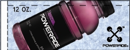 Small Powerade Ion Grape 12 oz. Bottle Flavor Drink Labels | Small Vending Machine Flavor Strips