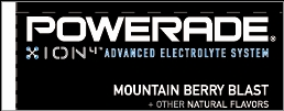 Small Powerade Ion Mountain Berry Blast Line Art Flavor Drink Labels | Small Vending Machine Flavor Strips