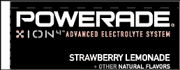 Small Powerade Ion Strawberry Lemonade Line Art Flavor Drink Labels | Small Vending Machine Flavor Strips