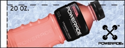 Small Powerade Ion Strawberry Lemonade Bottle Flavor Drink Labels | Small Vending Machine Flavor Strips