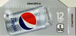 Small Diet Pepsi Can Flavor Drink Labels | Small Vending Machine Flavor Strips