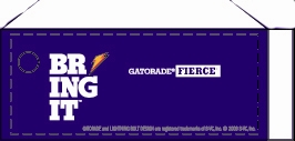 Small Gatorade Fierce Grape Line Art Flavor Drink Labels | Small Vending Machine Flavor Strips