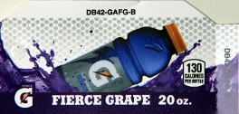 Small Gatorade Fierce Grape Bottle Flavor Drink Labels | Small Vending Machine Flavor Strips