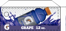 Small Gatorade Grape 12 oz. Bottle Flavor Drink Labels | Small Vending Machine Flavor Strips