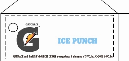 Small Gatorade Ice Punch Line Art Flavor Drink Labels | Small Vending Machine Flavor Strips