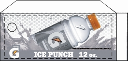 Small Gatorade Ice Punch 12 oz. Bottle Flavor Drink Labels | Small Vending Machine Flavor Strips