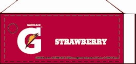 Small Gatorade Strawberry Line Art Flavor Drink Labels | Small Vending Machine Flavor Strips