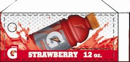 Small Gatorade Strawberry 12 oz. Bottle Flavor Drink Labels | Small Vending Machine Flavor Strips