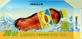 Small Lipton Lemon Iced Tea Can Flavor Drink Labels | Small Vending Machine Flavor Strips